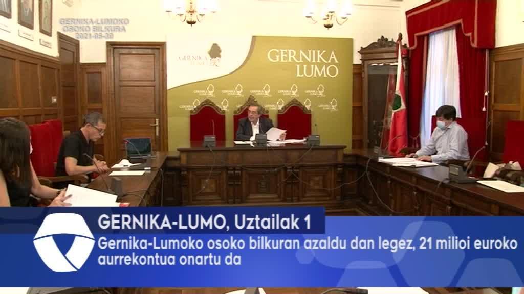 Osoko Bilkuran azaldu den legez, Gernika Lumoko Udalak 21 milioi euroko aurrekontu bat onartu izan du