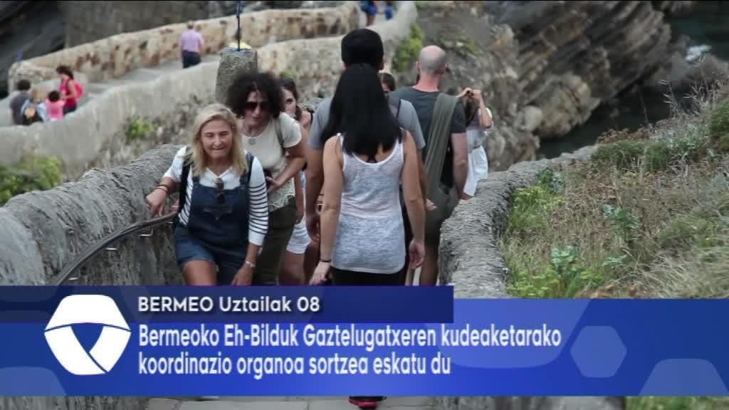 Gaztelugatxeren kudeaketarako koordinazio organoa eskatu du Bermeoko Eh-Bilduk