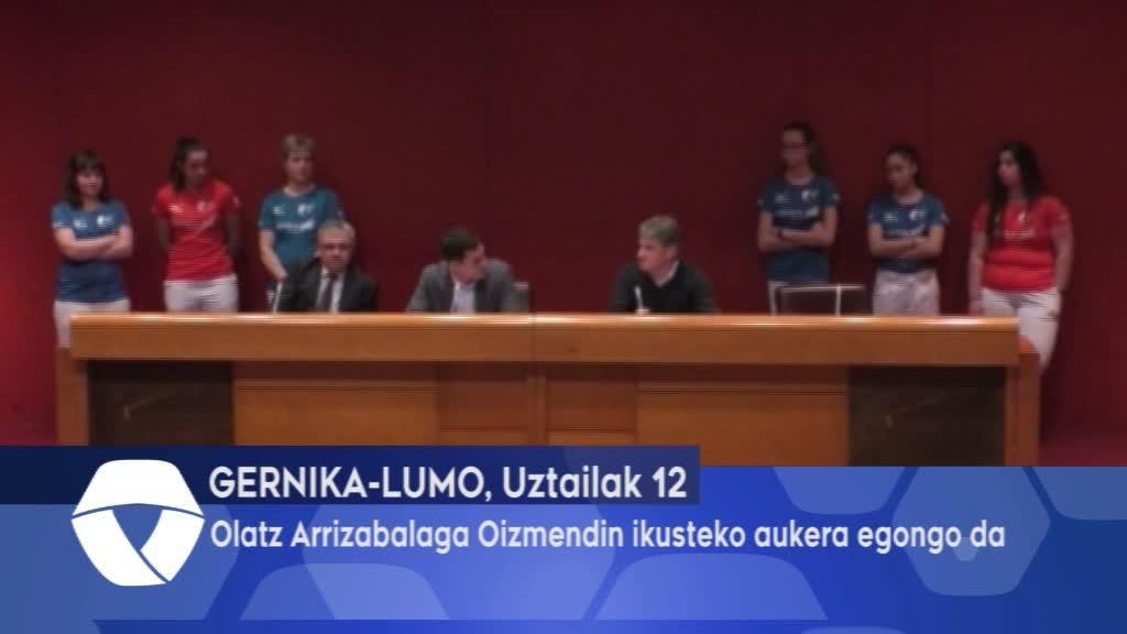 Olatz Arrizabalaga gernikarra Oizmendin egongo da ikusgai