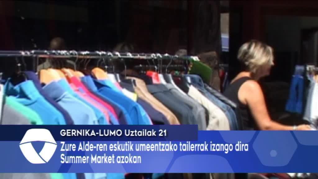 Zure Alde-k umeentzako tailerrak antolatu ditu Summer Market azokako egunetarako