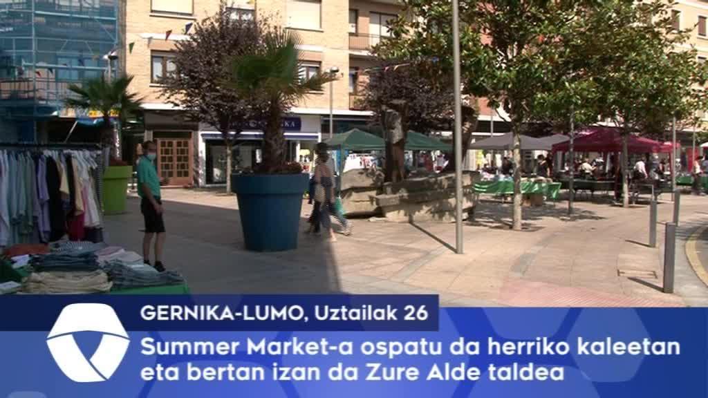 Summer Market-a ospatu da herriko kaleetan eta bertan izan da Zure Alde taldea