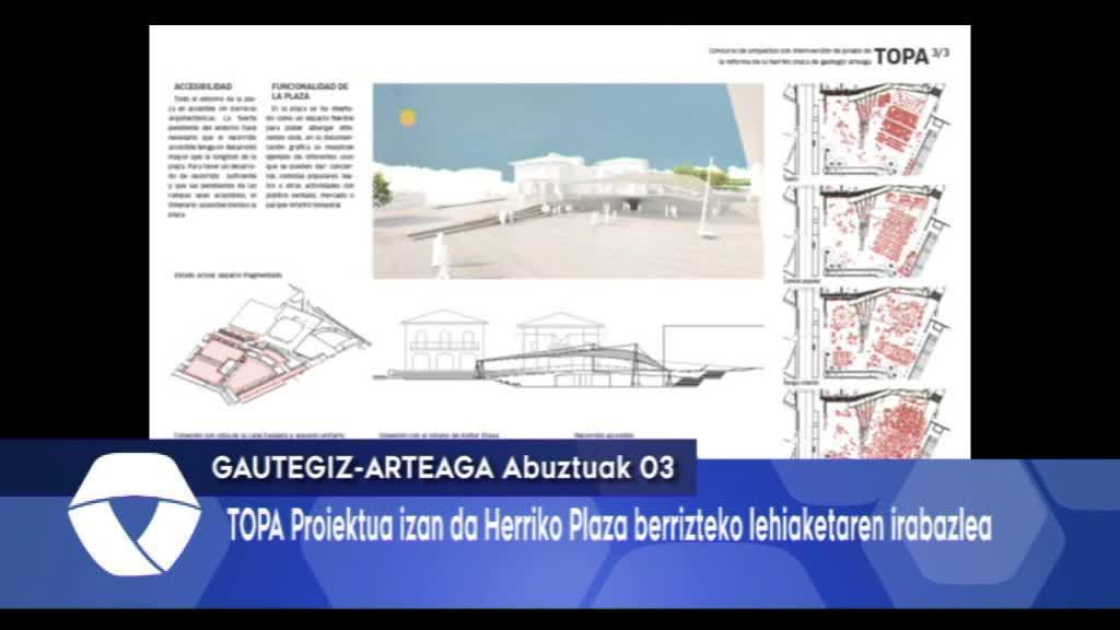 TOPA proiektuak irabazi du Herriko Plaza berrizteko lehiaketa