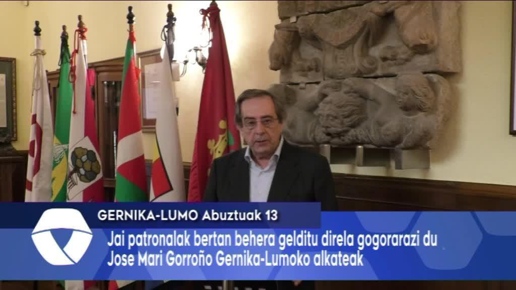 Herriko jaiak bertan behera geratu direla gogorarazi du Gernika-Lumoko alkateak