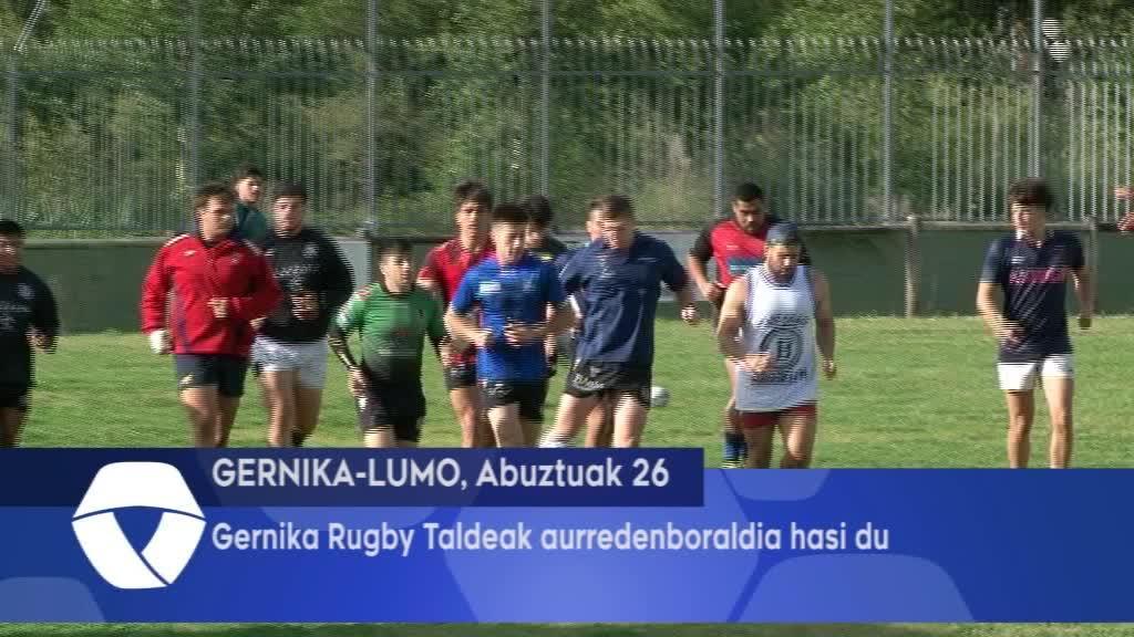 Gernika Rugby Taldeak aurredenboraldia hasi du