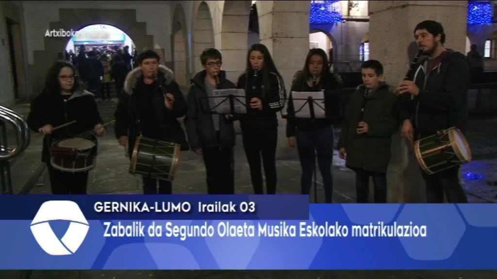 Zabalik da matrikulazio epea Segundo Olaeta Musika Eskolan