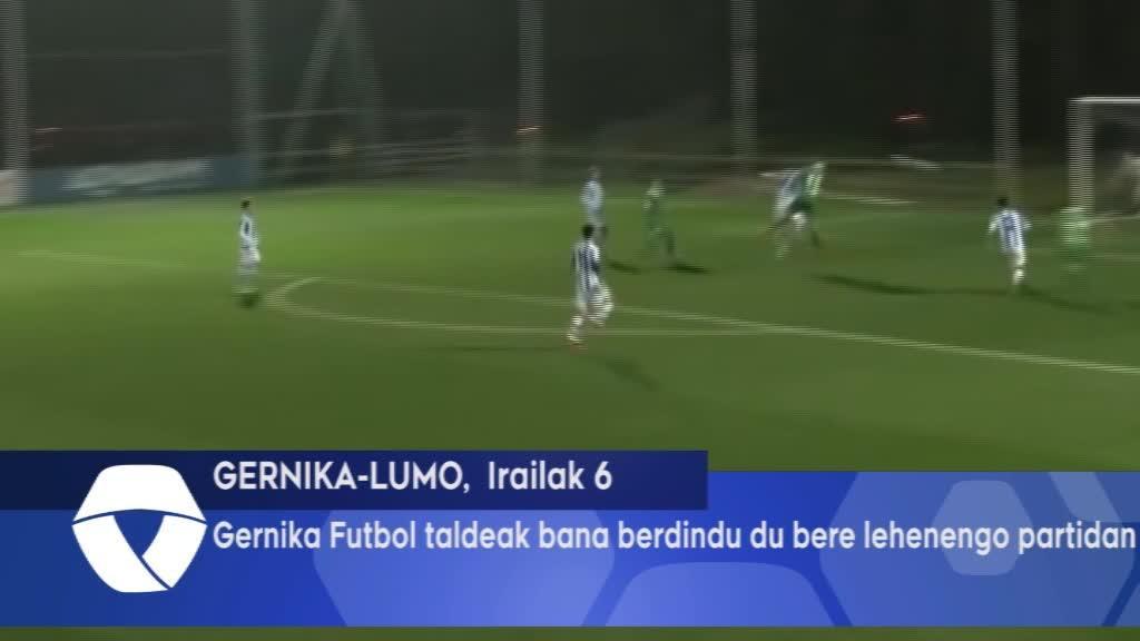 Gernika Futbol taldeak bana berdindu du bere lehenengo partidan