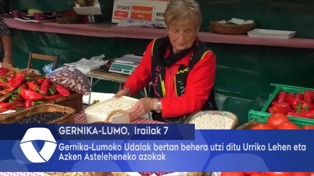 Gernika Lumoko Udalak bertan behera utzi ditu Urriko Lehen eta Azken Astelehenak