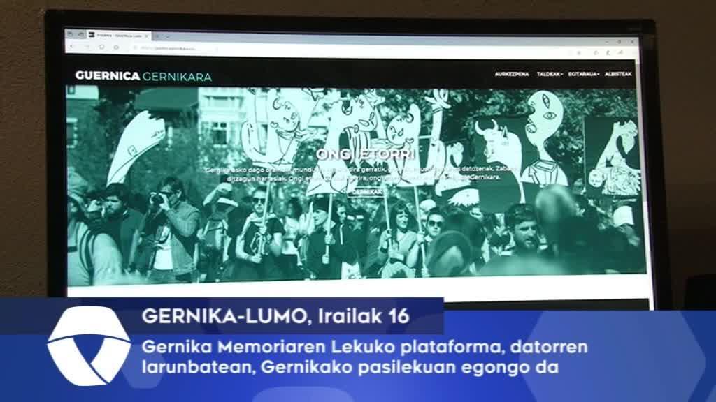 Gernika Memoriaren Lekuko plataforma datorren larunbatea, Gernikako pasealekuan egongo da