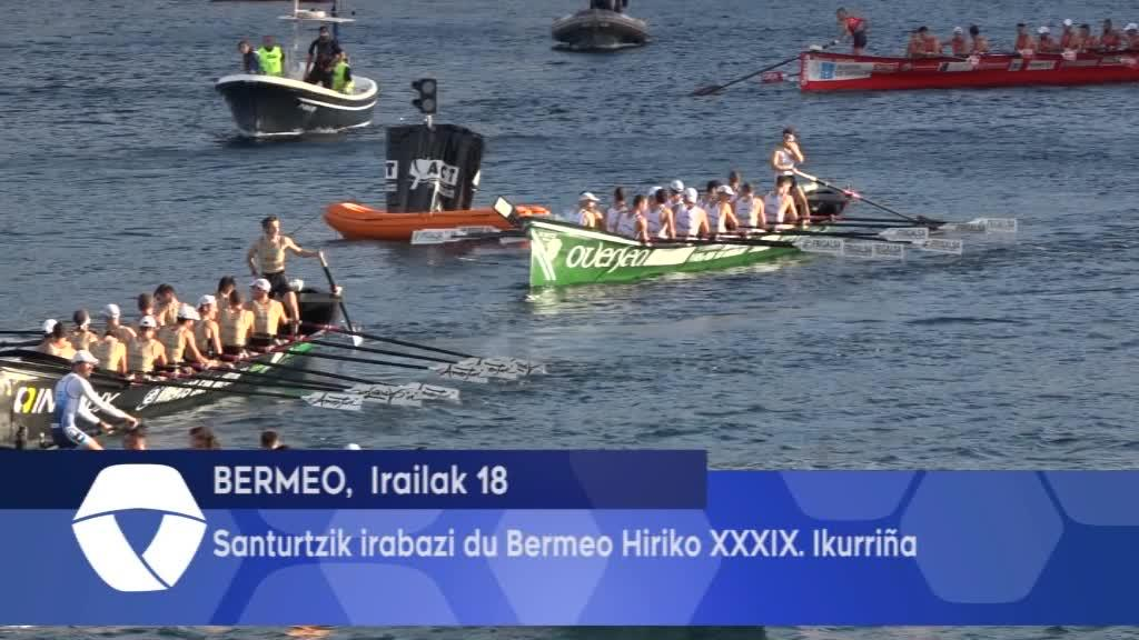 Santurtzik irabazi du Bermeo Hiriko XXXIX Ikurriña