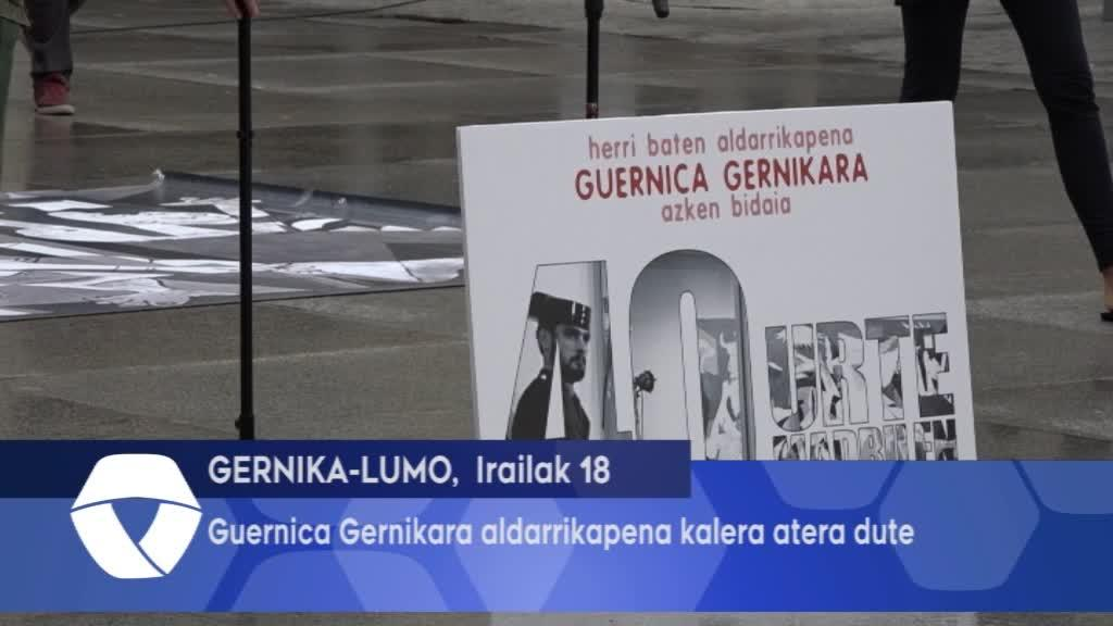 Guernica Gernikara aldarrikapena kalera atera dute