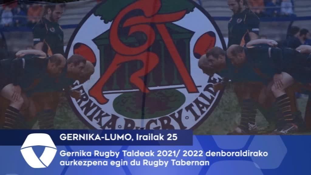 Gernika Rugby Taldeak 2021 -2022 denboraldiko aurkezpena egin du Gernika Rugby Tabernan