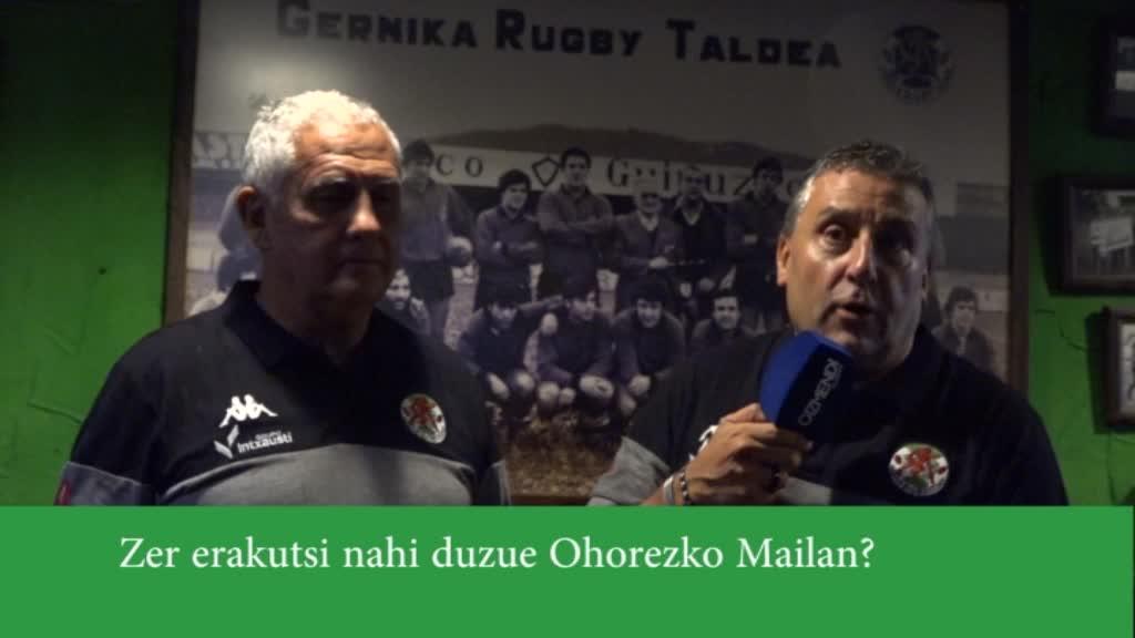 Gernika Rugby Taldea, Ohorezko Mailan
