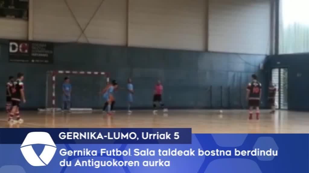 Gernikako futbol sala taldeak bostna berdindu du, Antiguokoren aurka