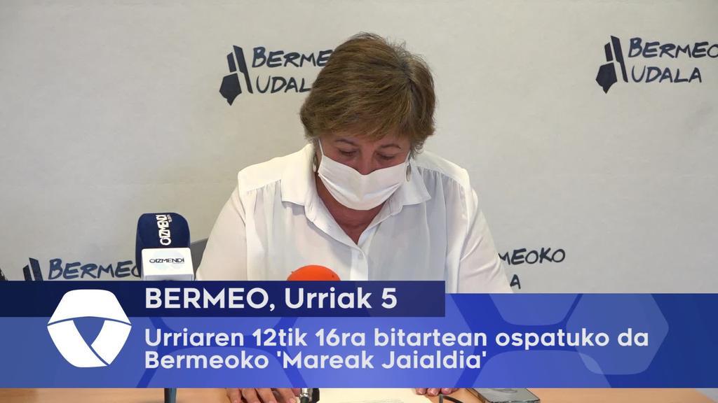 Urriaren 12tik 16ra bitartean ospatuko da Bermeoko 'Mareak Jaialdia'