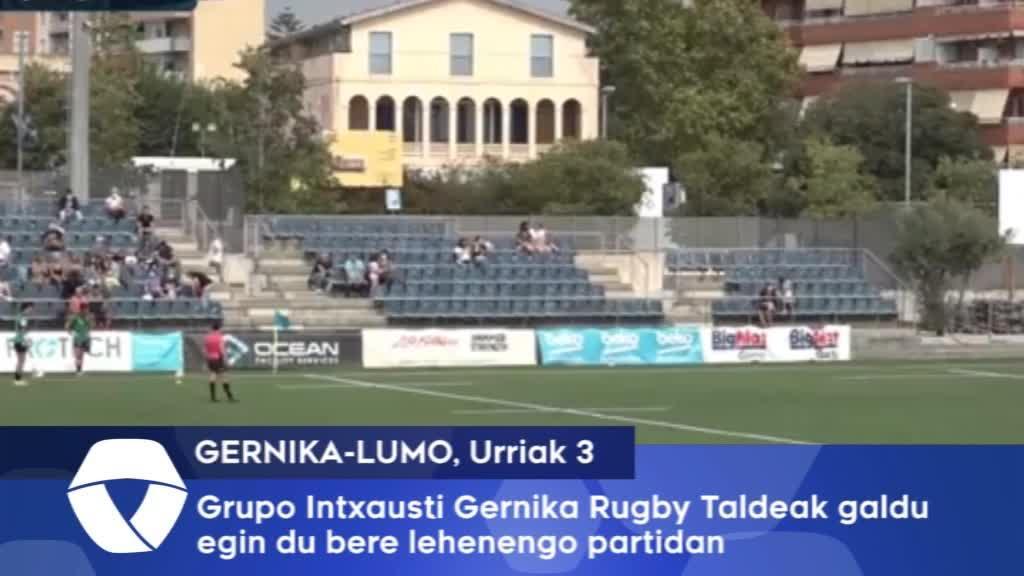 Gernika Rugby Taldeak porrota jaso du Santboianaren aurka