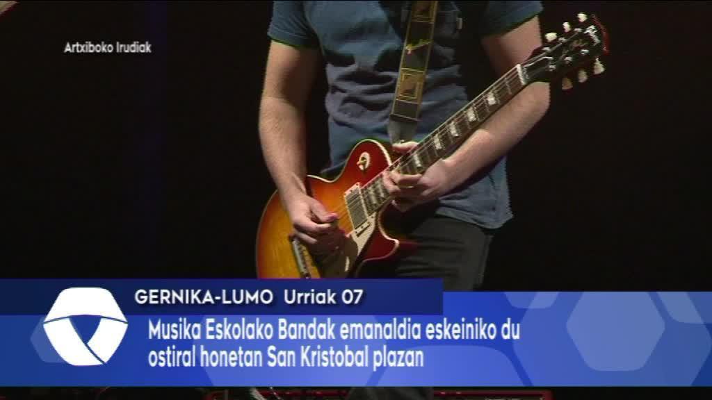 Musika Eskolako Bandak emanaldia eskeiniko du ostiral honetan