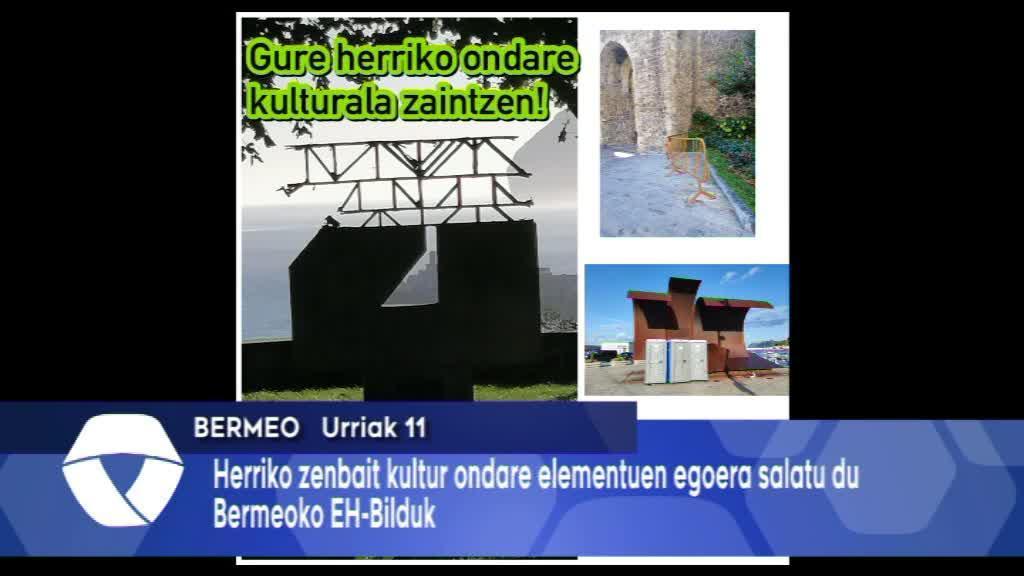 Herriko zenbait kultur ondare elementuren egoera salatu du Bermeoko EH-Bilduk