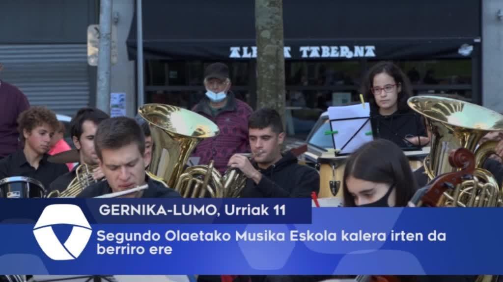 Segundo Olaeta Musika Eskolaren soinuak entzun dira San Kristobal Plazan