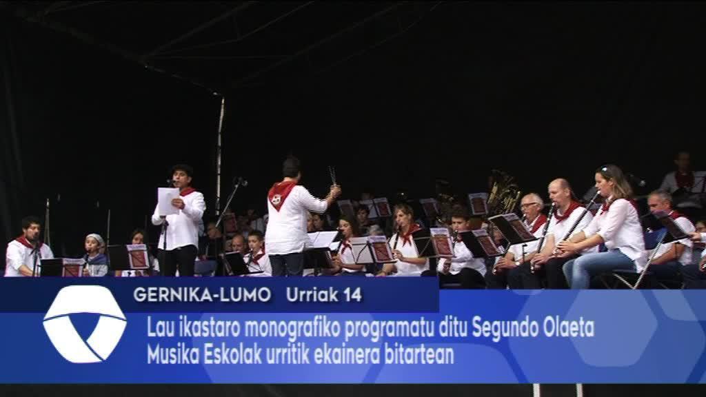 Lau ikastaro monografiko antolatu ditu Segundo Olaeta Musika Eskolak