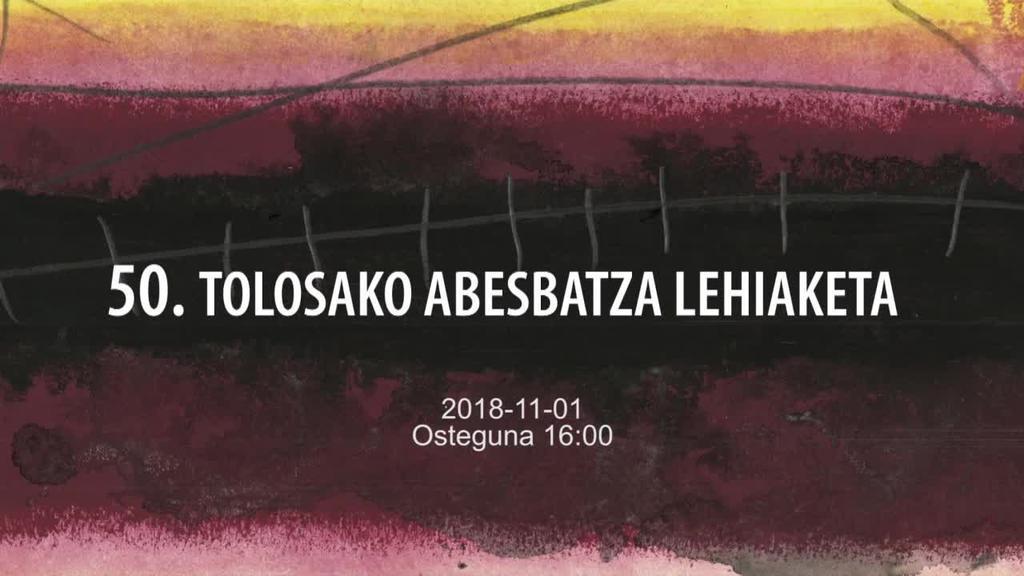 50. Tolosako Abesbatza Lehiaketa 2018-11-01 16:00