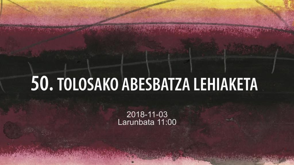 Tolosako Abesbatza Lehiaketa 2018-11-03 11:00