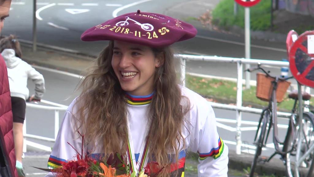 Omenaldi berezia jaso zuen Irene Caminosek Munduko Txapelketan eskuraturiko lorpenengatik