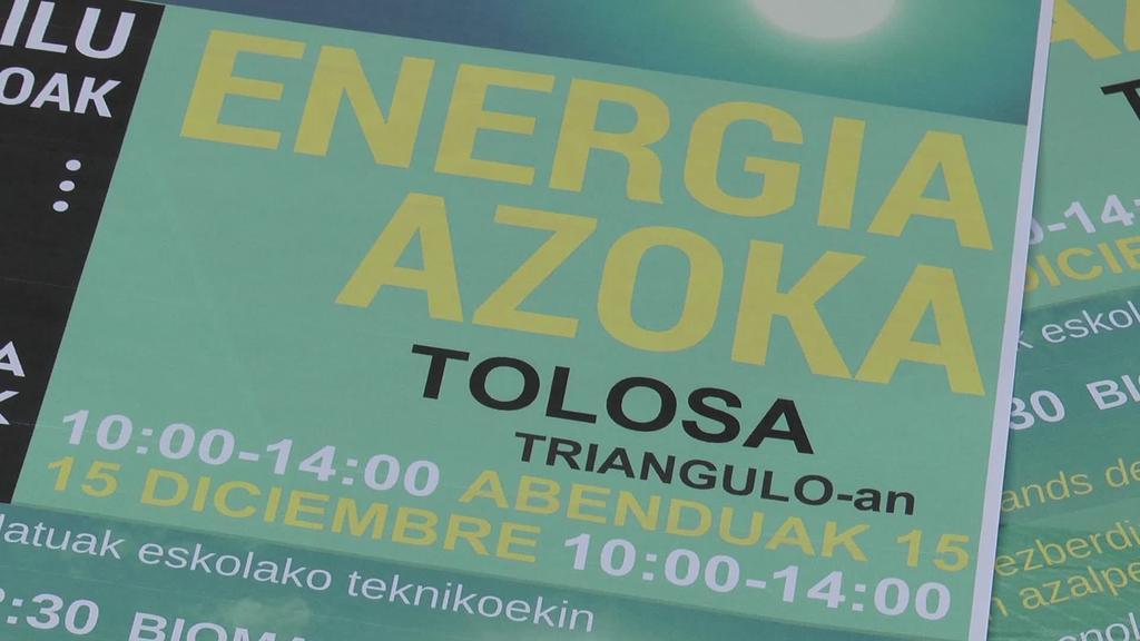 Energia Azoka egingo da larunbatean, laugarrenez