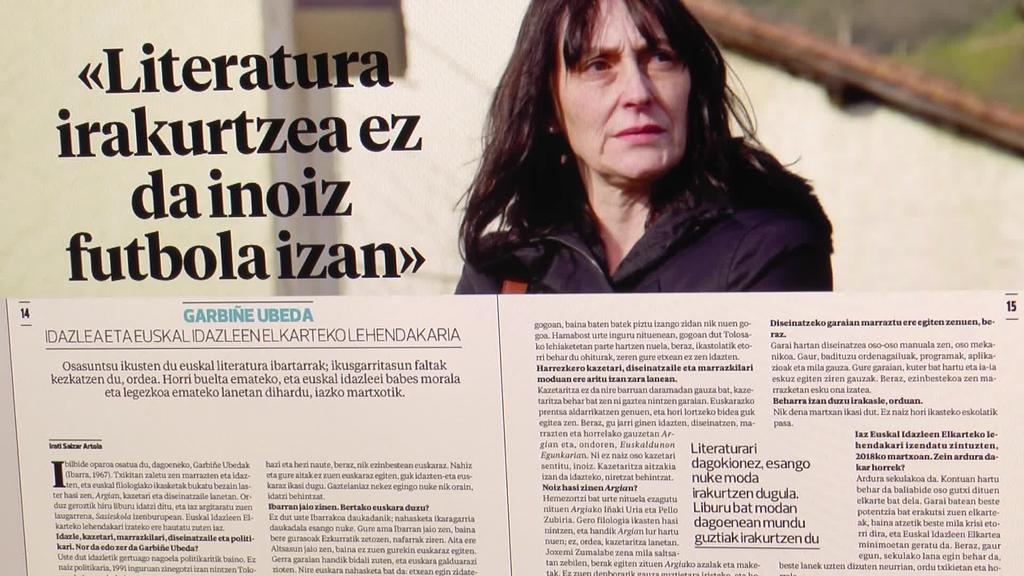 Garbiñe Ubeda idazlea protagonista Tolosaldeko Atariaren astekarian
