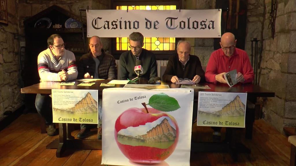 Otsailaren 8an egingo da Casino Elkarteak antolatzen  duen Txotx Solidarioa