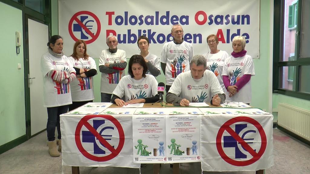 TOPA-k eratutako lan mahaiak 125.000,000 eurotan   kalkulatu du Osakidetzak Tolosaldean pilatutako zorra