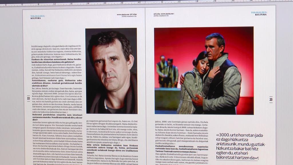 Infografiak eta Ghero antzezlana izango dira ostiraleko  aldizkariaren ardatz nagusiak