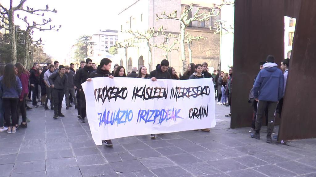 Baterajotze nazionala Orixe-ko ikasleen intereseko ebaluazio irizpideen alde