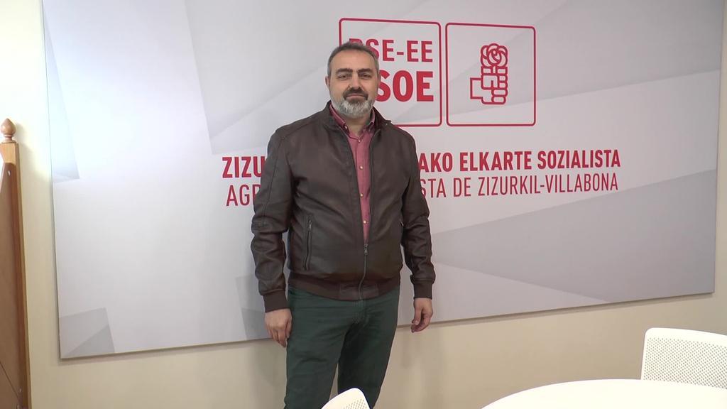 Jose Antonio Sanchez Almaraz izango da Zizurkilgo  PSE-EEren alkategaia