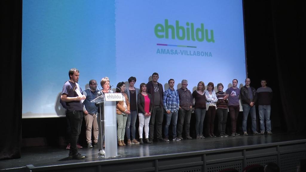 Amasa-Villabonako EH Bilduk Udal hauteskundeetarako hautagai  zerrenda aurkeztu du