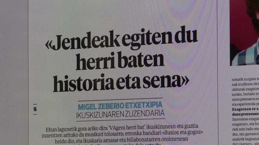 """""""VAgera herri bat"""" ikuskizuna eta V. Ataria Pilota Txapelketa izango dira astekariko gai nagusiak"""