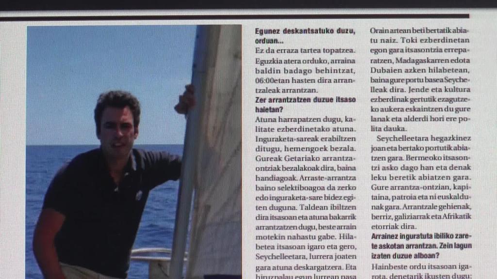 Alain Moleda itsaso zabaleko nabigatzailea ekarri du  azalera Aiurri hamaboskariak