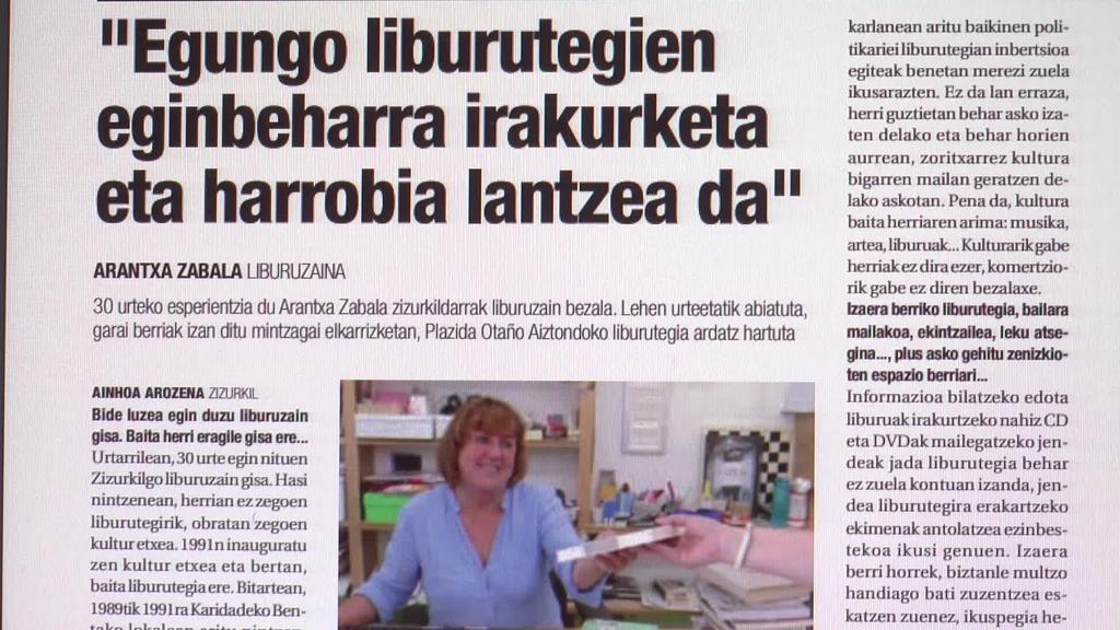 Arantxa Zabala Zizurkilgo liburuzaina ekarri du azalera  Aiurri hamaboskariak