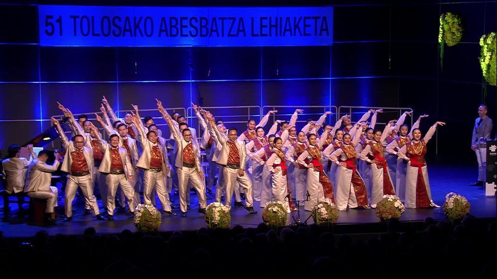 Indonesiako Batavia Madrigal Singers taldea  nagusitu zen 51. Tolosako Abesbatza Lehiaketan