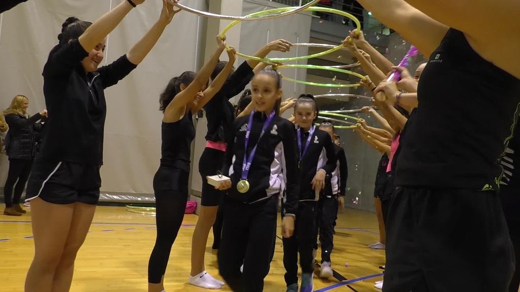 Tolosako infantil mailako gimnastak txapeldun Espainiako Txapelketan
