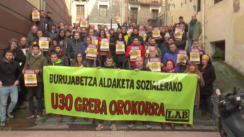 Urtarrilaren 30erako deitutako Greba Orokorrean  parte hartzeko deia egin du LAB sindikatuak