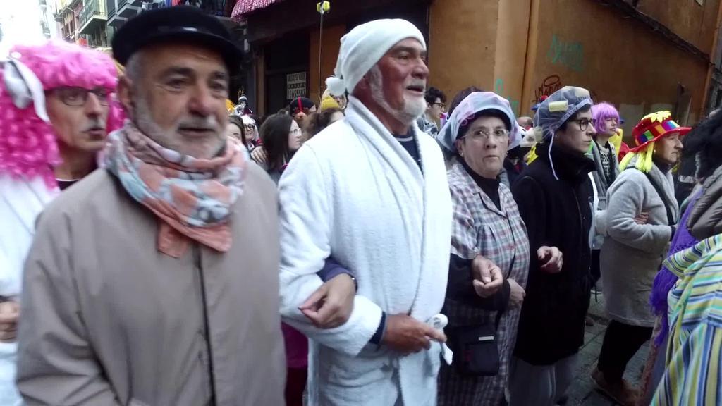 Tolosa indartsu esnatu da Zaldunita egunean Dianarekin