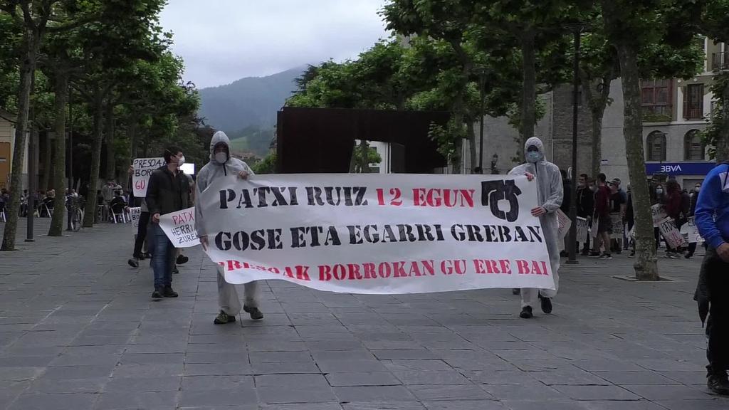 Patxi Ruiz preso politikoaren aldeko manifestazioa egin da