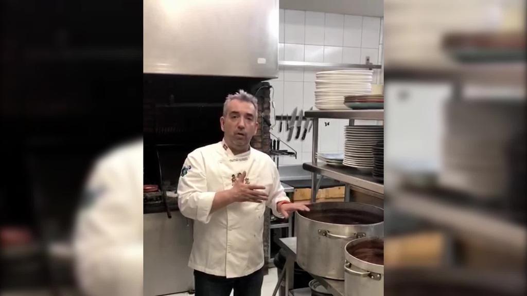 """Esteban: """"Janari osasuntsua egin dugu, mundu  guztiari gustatu ahal zaiona"""""""