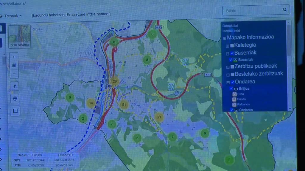 Eskura dago Amasa-Villabonako mapa interaktiboa