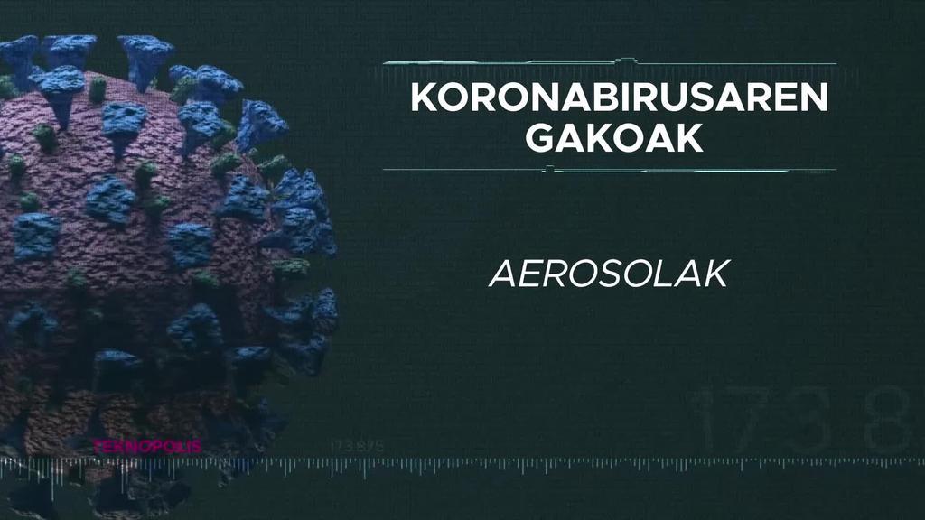 Koronabirusaren gakoak: Aerosolak.