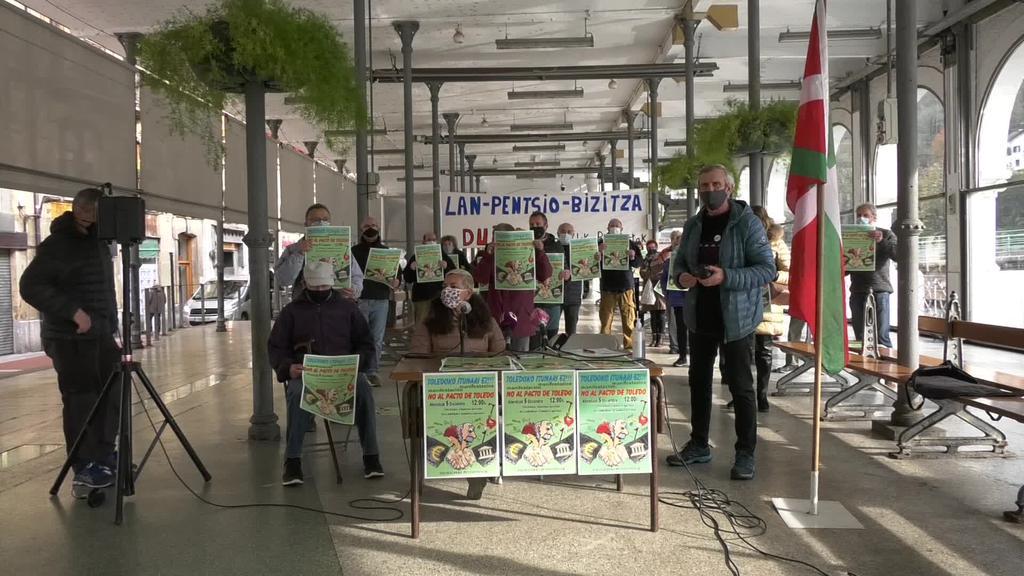 Pentsionisten Mugimenduak larunbateko  manifestazioan parte hartzeko deia zabaldu du