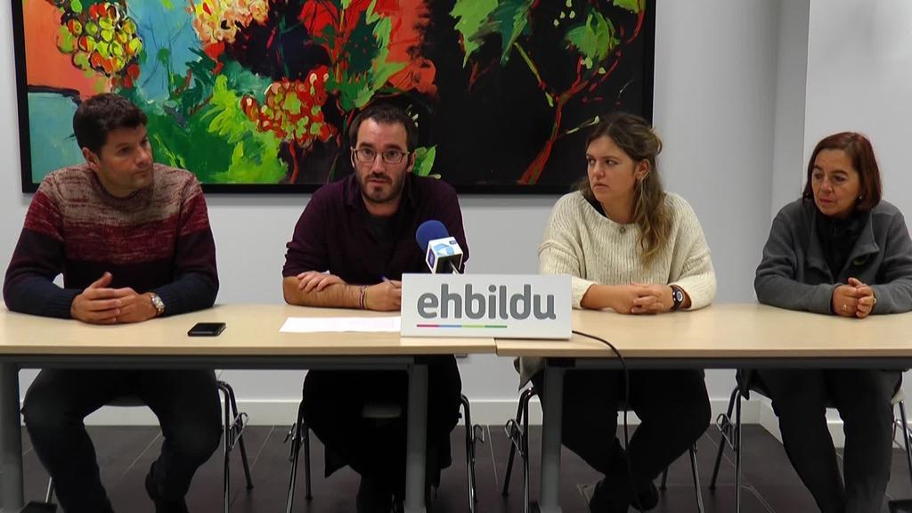 Zerga eta  tasen izozte orokor bat proposatu du EH Bilduk