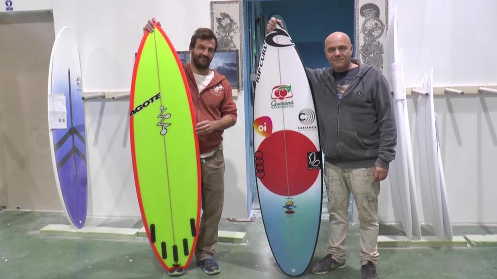 Gabriel Medina munduko surf txapeldunaren taulak, Zarautzen eginak.