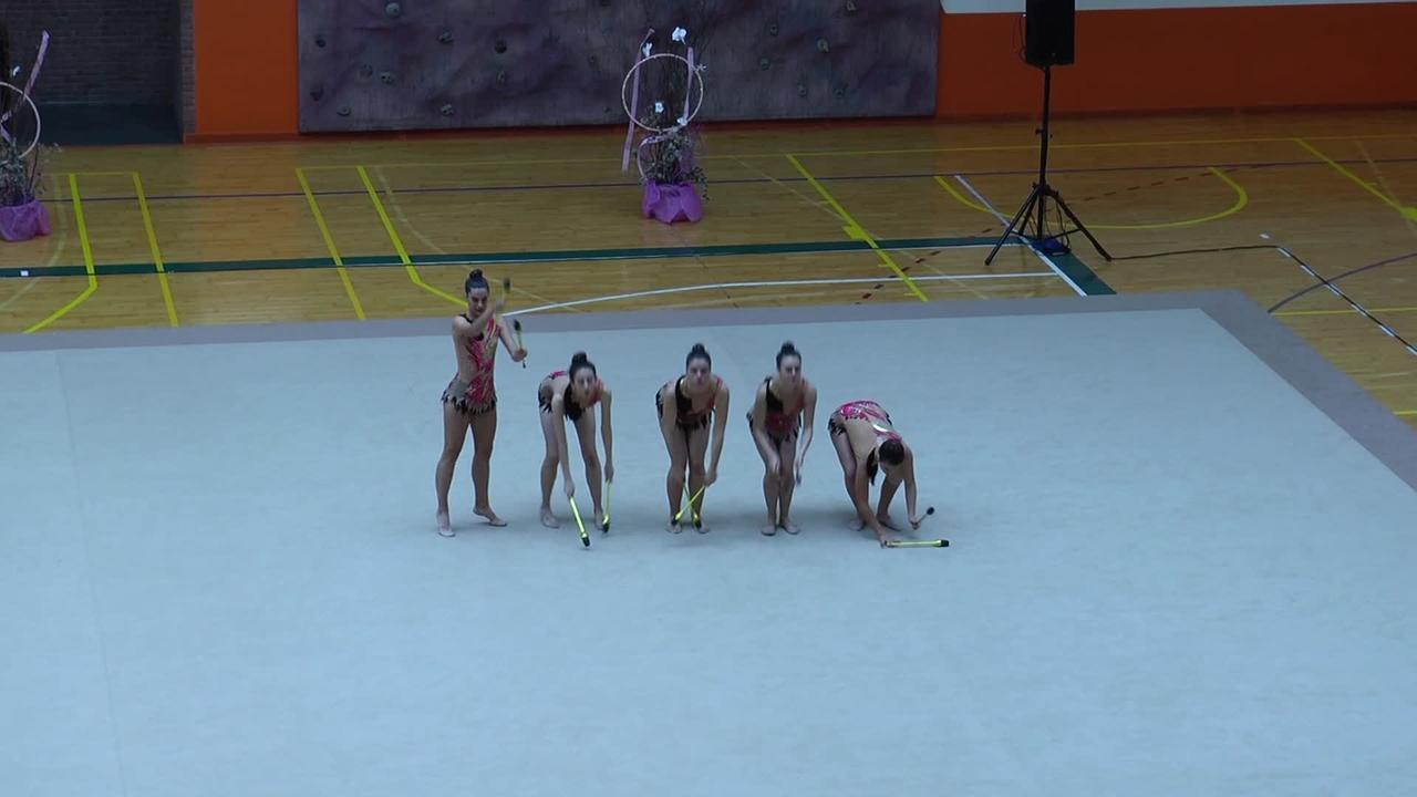 Gimnastika erritmikoko amateurren Gipuzkoako Txapelketa jokatu zen igandean Azpeitiko kiroldegian