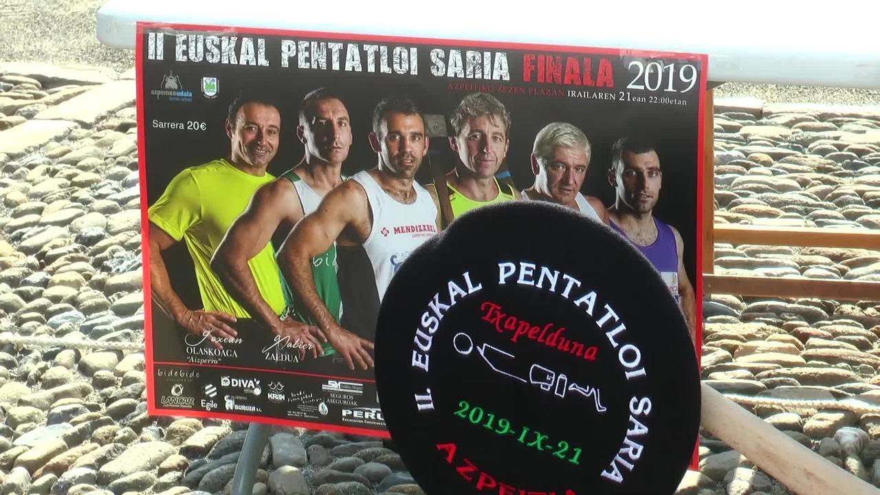Dena prest dute Euskal Pentatloi Txapelketaren finalerako Azpeitiko zezen plazan